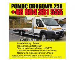 LAWETA NIEMCY HOLOWANIE +48 604 381 555 POMOC DROGOWA 24h NAPRAWA