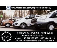 CODZIENNE PRZEWOZY- POLSKA-NIEMCY-HOLANDIA-BELGIA