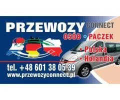 BUSY POLSKA - HOLANDIA BEZ PRZESIADEK TANIO SZYBKO Z ADRESU NA ADRES