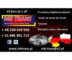 Polska-Niemcy-Belgia-Holandia przewóz osób i paczek